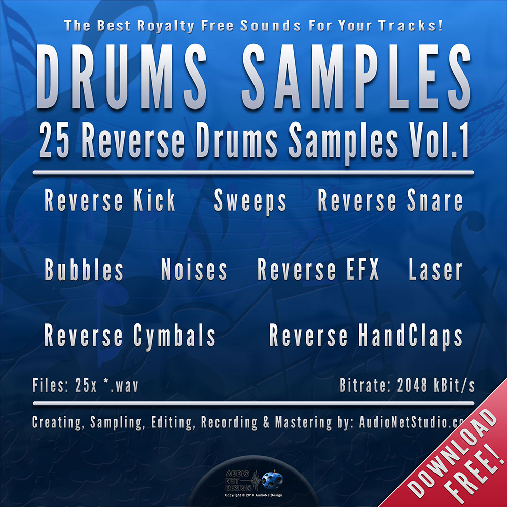 AND 25 Free Reverse Drums Sounds Vol 1 | AudioNetDesign